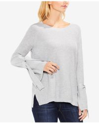 Vince Camuto - Cotton Bell-sleeve Jumper - Lyst