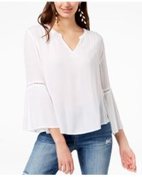 INC International Concepts - I.n.c. Ladder-trim Bell-sleeve Top, Created For Macy's - Lyst