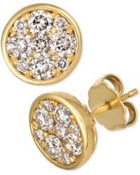 Le Vian - Strawberry & Nudetm Diamond Cluster Stud Earrings (1 Ct T.w.) - Lyst