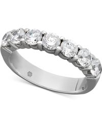 Macy's - Certified Seven Diamond Station Band Ring In 14k White Gold (1-1/2 Ct. T.w.) - Lyst