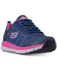 Skechers - Work Relaxed Fit: Comfort Flex Pro Hc Slip Resistant Athletic Sneakers From Finish Line - Lyst