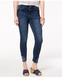 Style & Co. - Petite Embroidered-hem Jeans, Created For Macy's - Lyst
