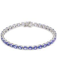 Macy's - Tanzanite Tennis Bracelet (15 Ct. T.w.) In Sterling Silver - Lyst