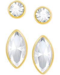 Swarovski - Gold-tone 2-pc. Set Crystal Stud Earrings - Lyst