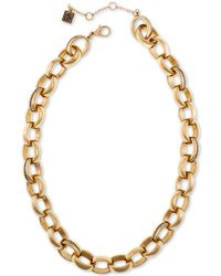 """Laundry by Shelli Segal - Gold-tone Large Link Collar Necklace, 16"""" + 2"""" Extender - Lyst"""