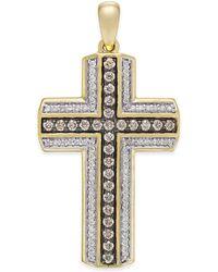 Macy's - Men's Diamond Cross Pendant (3/4 Ct. T.w.) In 10k Gold - Lyst