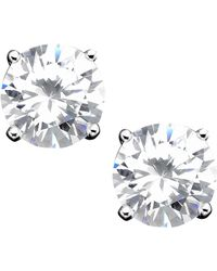 Giani Bernini - Sterling Silver Cubic Zirconia Stud Earrings (4 Ct. T.w.) - Lyst