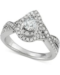 Macy's - Diamond Teardrop Engagement Ring (1 Ct. T.w.) In 14k White Gold - Lyst