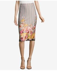 Eci - Mixed-print Pencil Skirt - Lyst