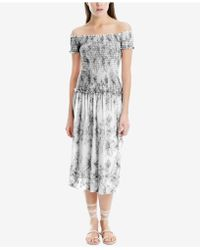 Max Studio - Smocked-bodice Maxi Dress, Created For Macy's - Lyst