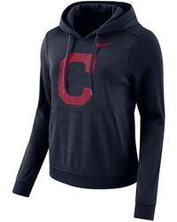 premium selection c2578 69267 Nike Cleveland Indians Gym Vintage Full Zip Hooded ...