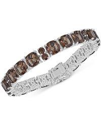 Macy's - Smoky Quartz Link Bracelet (41 Ct. T.w.) In Sterling Silver - Lyst