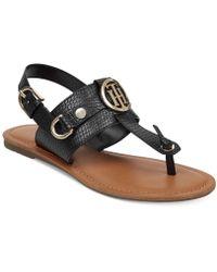 Tommy Hilfiger Embossed strap sandals 9RaG9