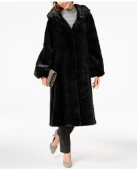 Jones New York - Hooded Faux-fur Coat - Lyst