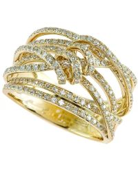 Effy Collection | D'oro™ By Effy Diamond Ribbon Wrap Ring (3/4 Ct. T.w.) In 14k Gold | Lyst