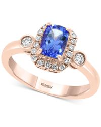 Effy Collection - Effy Tanzanite (3/4 Ct. T.w.) And Diamond (1/4 Ct. T.w.) Ring In 14k Rose Gold - Lyst
