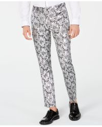 INC International Concepts - Slim-fit Metallic Jacquard Trousers, Created For Macy's - Lyst