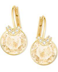 Swarovski - Clear & Colored Crystal Drop Earrings - Lyst