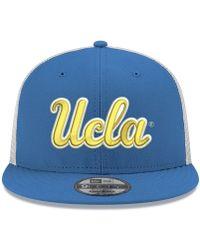 new style 52976 bd36a adidas Originals Ucla Bruins Flat Brim Snapback Cap in Blue for Men - Lyst