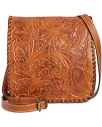 Patricia Nash - Burnished Tooled Granada Crossbody - Lyst