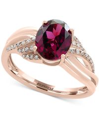 Effy Collection - Effy® Rhodolite Garnet (2-1/3 Ct. T.w.) & Diamond (1/8 Ct. T.w.) Ring In 14k Rose Gold - Lyst