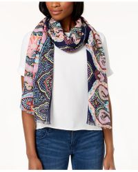 Echo - Sea Fan Paisley Cotton Scarf - Lyst