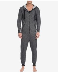 2xist - 2(x)ist Men's Heathered Terry Pajama Jumpsuit - Lyst
