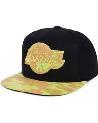 2dd20a1db0196 Lyst - Mitchell   Ness Los Angeles Lakers Washed Nba Cotton Hat in ...
