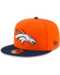 241af3187 Lyst - Ktz Denver Broncos Heather Action 2-tone 59fifty Cap in ...