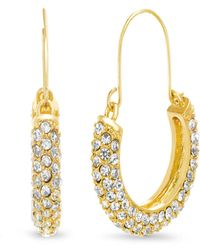 "Catherine Malandrino - ""u"" Shaped Yellow Gold-tone Hoop Earrings - Lyst"