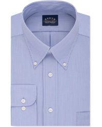Eagle - Men's Classic-fit Non-iron Blue Solid Dress Shirt - Lyst