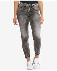 Silver Jeans Co. - Avery Ankle Skinny Jeans - Lyst