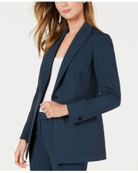 Anne Klein - Peak Lapel Long Jacket, Created For Macy's - Lyst