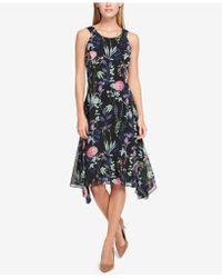 Tommy Hilfiger - Floral-printed Asymmetrical Dress - Lyst