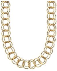 Betsey Johnson - Textured Round-link Necklace - Lyst