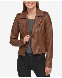 Levi's - Faux-leather Moto Jacket - Lyst
