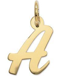 Macy's - 14k Gold Charm, Small Script Initial A Charm - Lyst