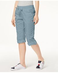 Tommy Hilfiger - Sport Cotton Drawstring Capri Pants - Lyst
