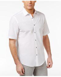 Alfani - Men's Chest-striped Cotton Shirt - Lyst