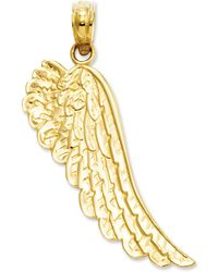 Macy's - 14k Gold Charm, Angel Wing Charm - Lyst