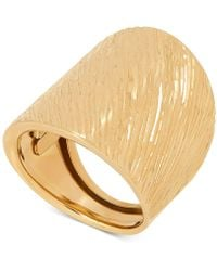 Macy's - Textured Wide Band Statement Ring In 14k Gold - Lyst