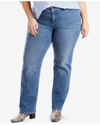 Levi's - Plus Size 414 Relaxed Fit Straight Leg Jeans - Lyst
