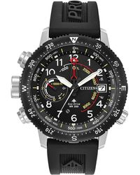Citizen - Men's Eco-drive Promaster Altichron Black Rubber Strap Watch 46mm - Lyst