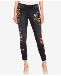 William Rast - Perfect Embroidered Ankle Skinny Jeans - Lyst