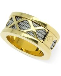 Charriol - Womens Two-tone Multi-x Cable Ring - Lyst