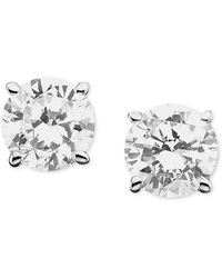 Macy's - Certified Colorless Diamond Stud Earrings In 18k White Gold (1/2 Ct. T.w.) - Lyst