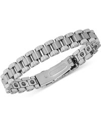 Macy's - Watch Clasp Link Bracelet In Tungsten - Lyst