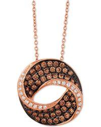 "Le Vian - Chocolatier® Diamond Swirl 18"" Pendant Necklace (9/10 Ct. T.w.) In 14k Rose Gold - Lyst"