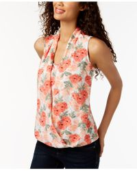 Charter Club - Printed Layered-look Top, Created For Macy's - Lyst