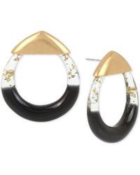 Robert Lee Morris - Gold-tone Colorblocked Geometric Drop Earrings - Lyst